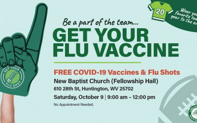 """Cabell-Huntington Health Department Hosts """"Be a Part of the Team, Get Your Flu Vaccine"""" Clinic"""